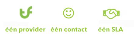 één provider, contact en SLA