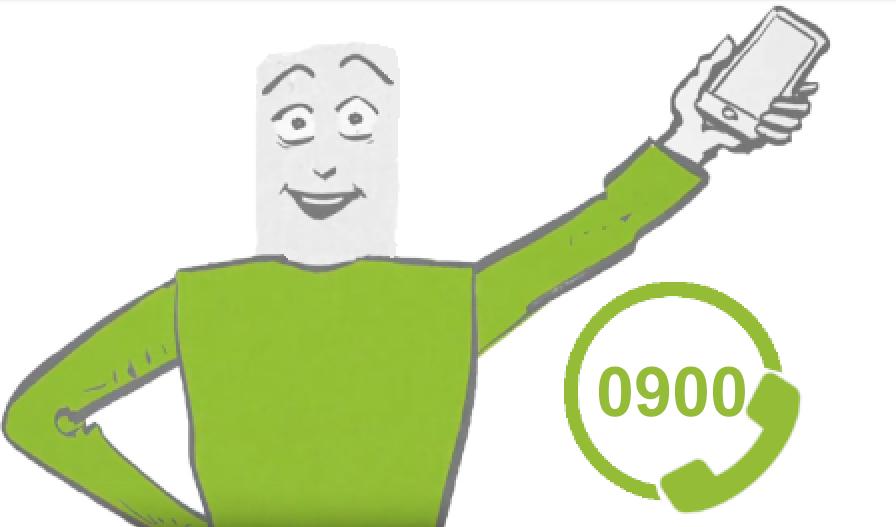 0900 nummers zijn makkelijk aan te vragen bij TeleForwarding